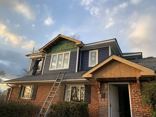 Home addition project in Virginia